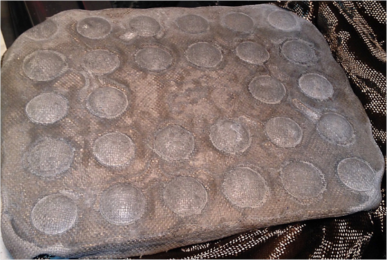 Basalt fabric forming with concrete
