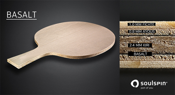 soulspin basalt table tennis racket