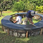 Hawaii Fire Pit with Basalt Rebar